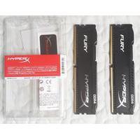 Memória Kingston HyperX FURY 8GB (2x4GB) 2400Mhz DDR4 CL15 Black - HX424C15FBK2/8
