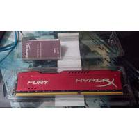 Memória Kingston HyperX FURY 8GB 1866Mhz DDR3 CL10 Red Series - HX318C10FR/8